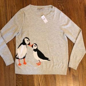 Brand new LOFT sweater with penguin detail